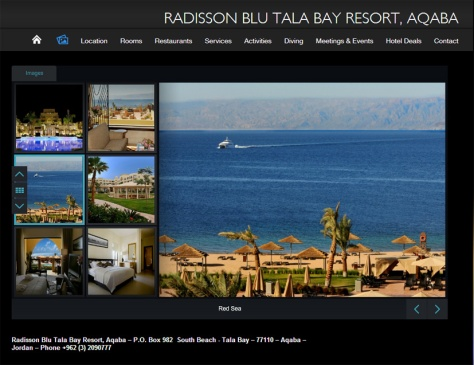 Radisson Blu Tala Bay web site