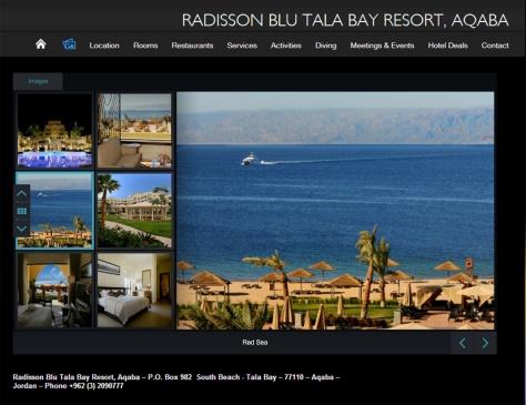 Radisson Blu Tala Bay web site
