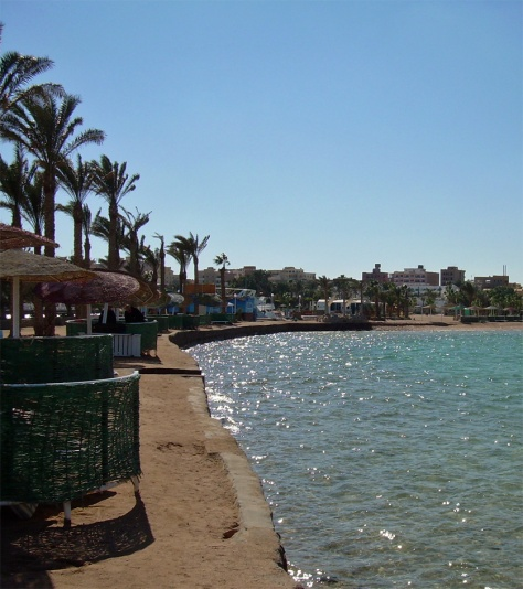 Hurghada seen from the beach