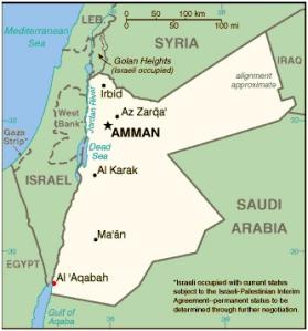 jordanian kartta
