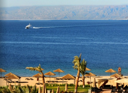 Red Sea between Jordania and Egypt