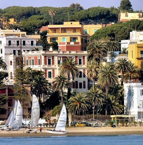 Anzio city and beach