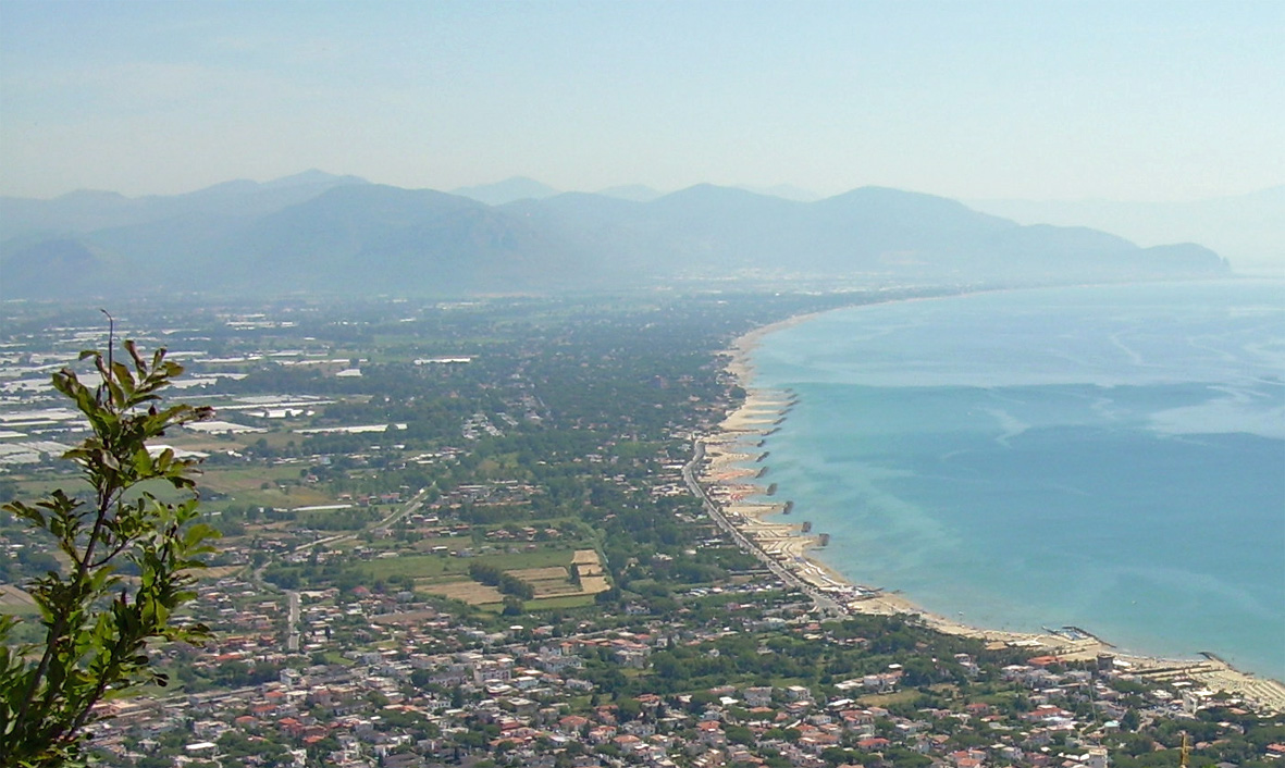 view towards south from mount circeo