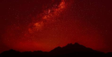 Night Above Sahara Mountains 2