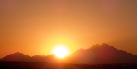 African Sunset Behind The Mountains.jpg