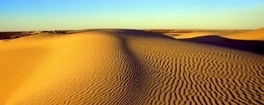 Sandy Dunes In Egypt