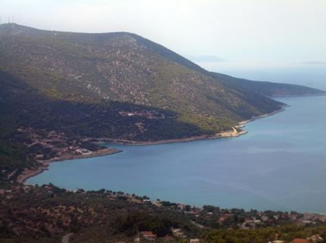 Greece has many hills and fantastic views